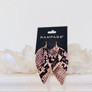 Rampage snake skin earrings